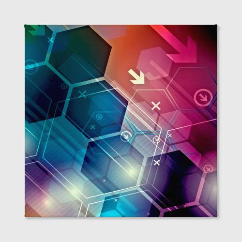 Холст квадратный  Фото 02, Hi-tech