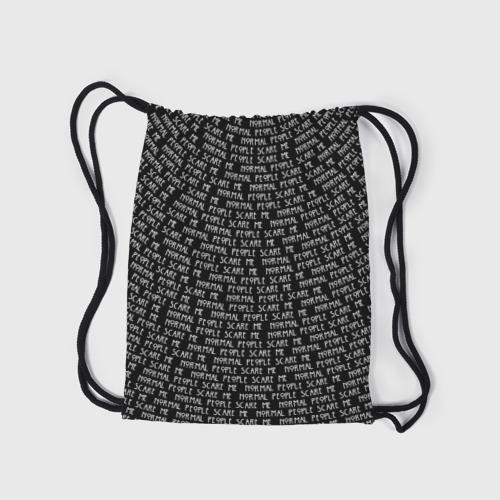 Рюкзак-мешок 3D Normal people scare me Фото 01