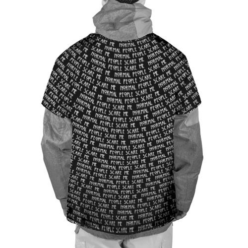 Накидка на куртку 3D  Фото 02, Normal people scare me