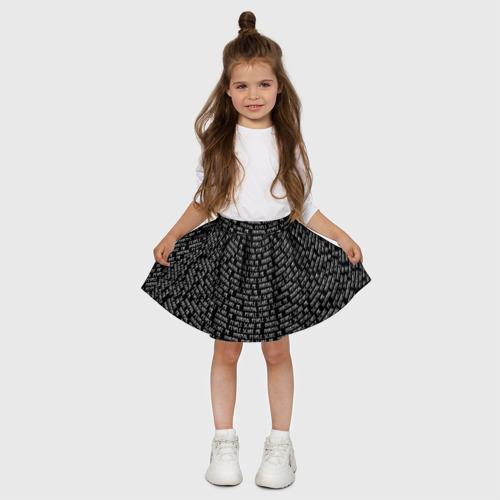 Детская юбка-солнце 3D Normal people scare me Фото 01