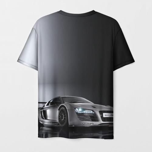 Мужская футболка 3D Серебристая Ауди Фото 01