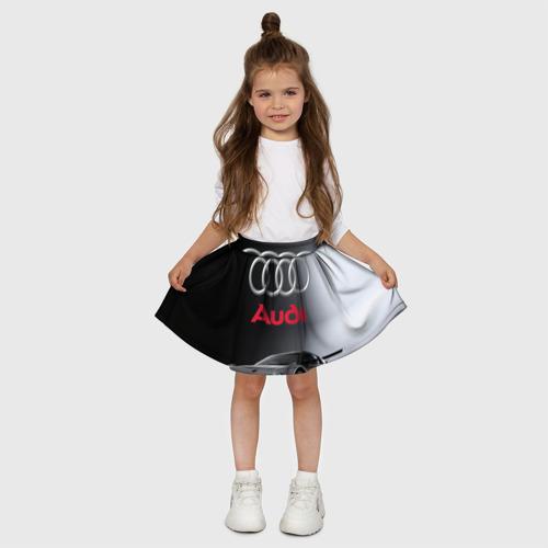 Детская юбка-солнце 3D  Фото 03, Серебристая Ауди