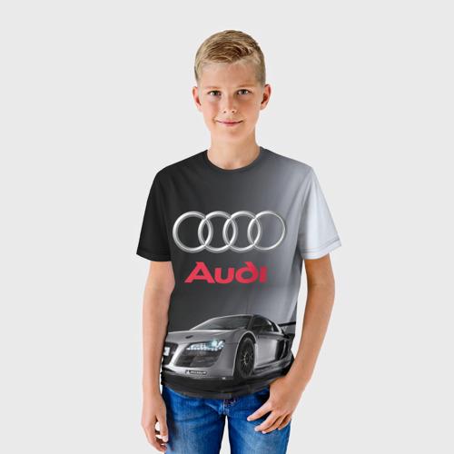 Детская футболка 3D Серебристая Ауди