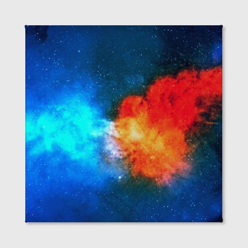 Холст квадратный Столкновение космоса Фото 01