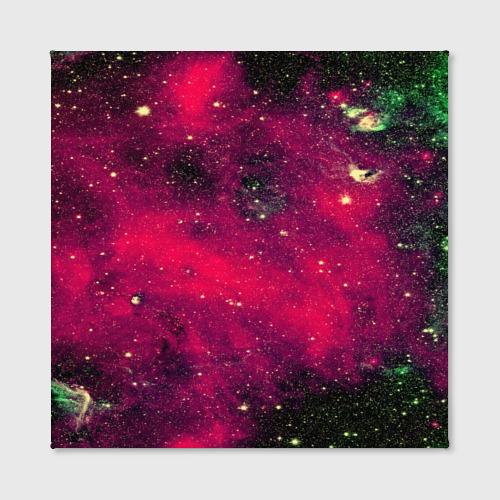 Холст квадратный Розовый космос Фото 01