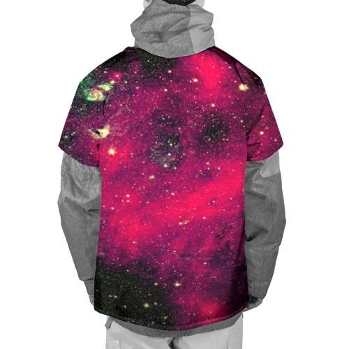 Накидка на куртку 3D  Фото 02, Розовый космос