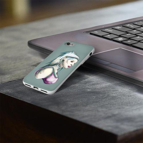 Чехол для Apple iPhone 8 силиконовый глянцевый  Фото 03, Death