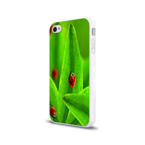 Чехол для Apple iPhone 4/4S силиконовый глянцевый Милые насекомые Фото 01