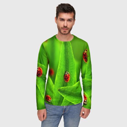 Мужской лонгслив 3D Милые насекомые Фото 01