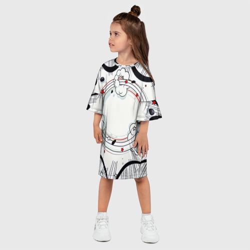 Детское платье 3D  Фото 03, Fashion pop art