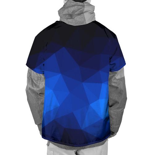 Накидка на куртку 3D  Фото 02, Синие полигоны