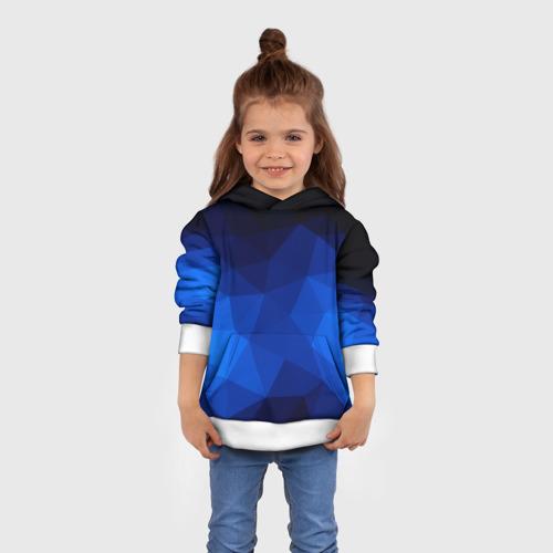 Детская толстовка 3D Синие полигоны