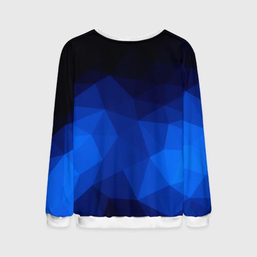 Мужской свитшот 3D Синие полигоны Фото 01