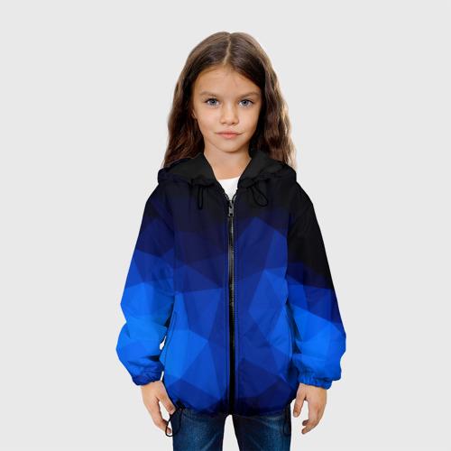 Детская куртка 3D Синие полигоны Фото 01