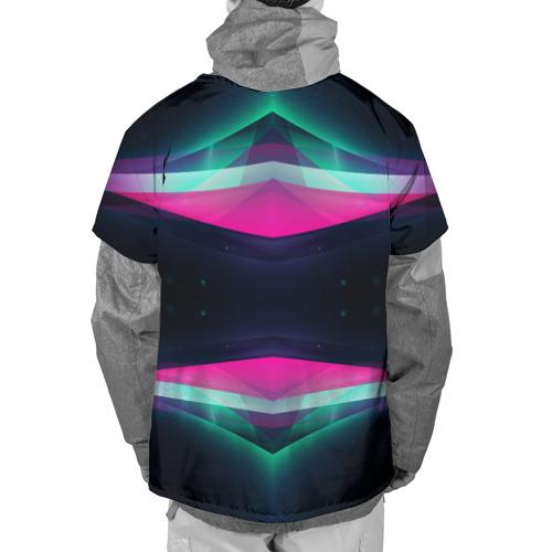 Накидка на куртку 3D  Фото 02, Абстракция бирюза