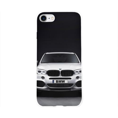 Чехол для Apple iPhone 8 силиконовый глянцевый  Фото 01, BMW X5