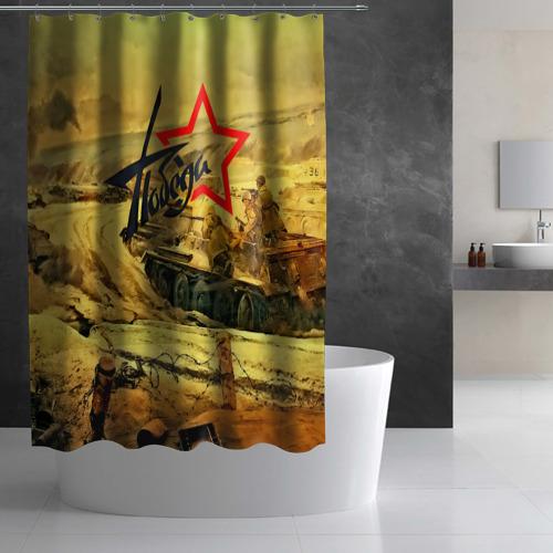 Штора 3D для ванной  Фото 03, Народная битва