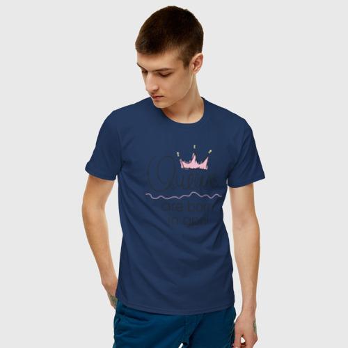 Мужская футболка хлопок Королевы рождаются в апреле Фото 01