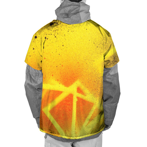 Накидка на куртку 3D  Фото 02, Оранжевый цвет