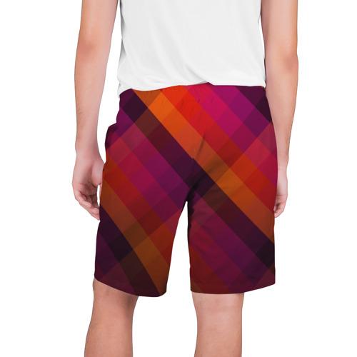 Мужские шорты 3D  Фото 02, Ромбы, красная текстура
