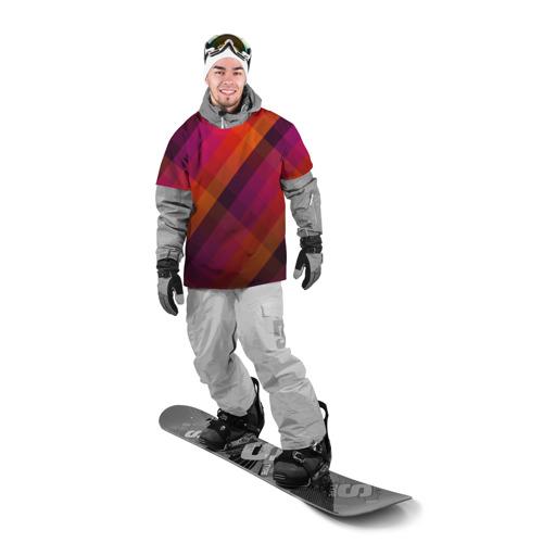 Накидка на куртку 3D  Фото 03, Ромбы, красная текстура