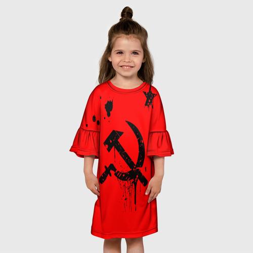 Детское платье 3D  Фото 01, Серп и молот