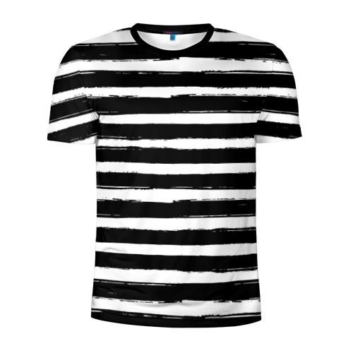 Мужская футболка 3D спортивная Тельняшка Фото 01