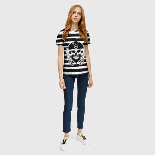 Женская футболка 3D Тельняшка Фото 01