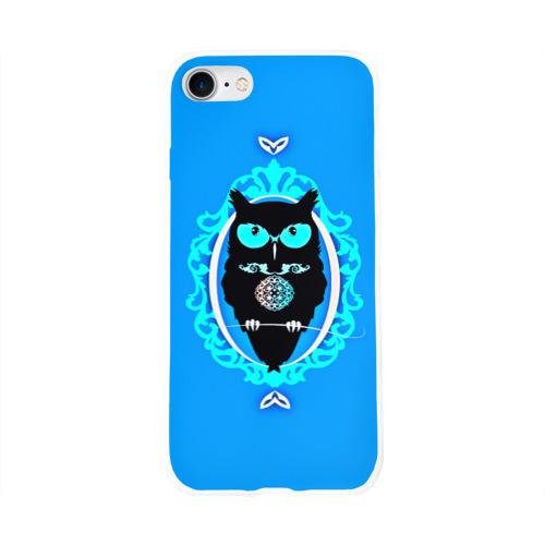 Чехол для Apple iPhone 8 силиконовый глянцевый  Фото 01, Owl