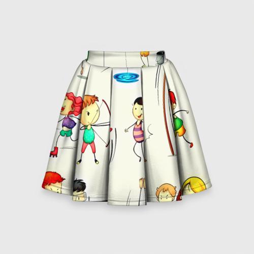 Детская юбка-солнце 3D Sport