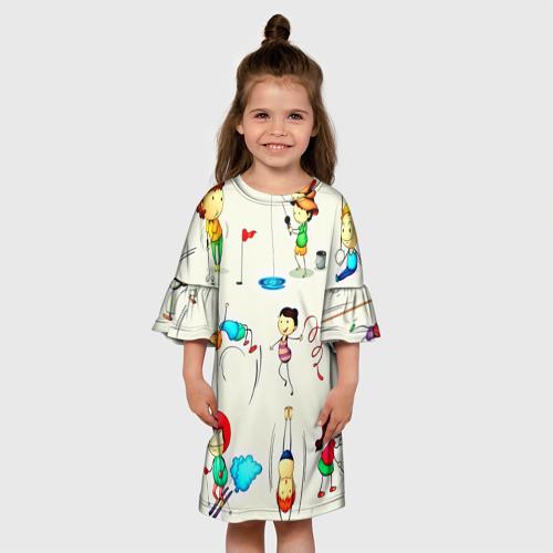 Детское платье 3D  Фото 01, Sport