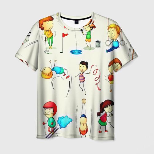 Мужская футболка 3D  Фото 01, Sport