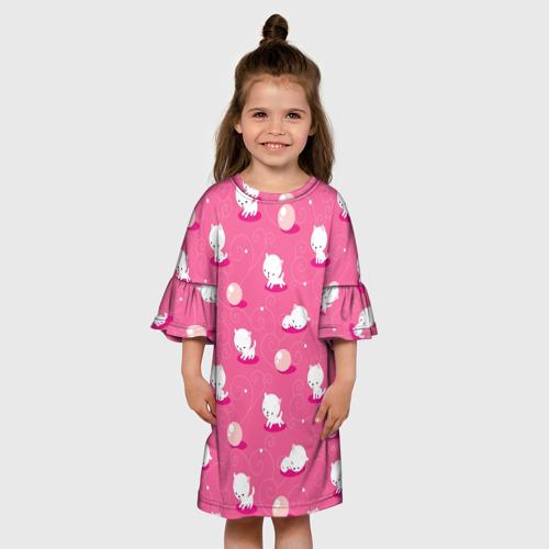 Детское платье 3D  Фото 01, Милые котики