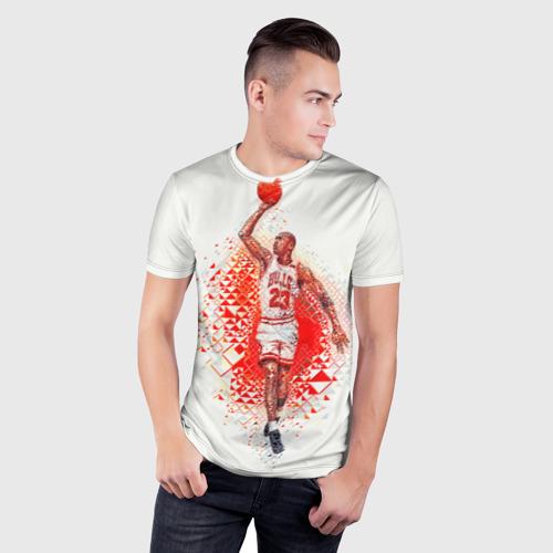 Мужская футболка 3D спортивная  Фото 03, Michael Jordan