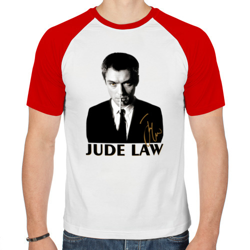 Мужская футболка реглан  Фото 01, Джуд Лоу автограф