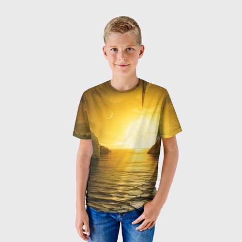 Детская футболка 3D Солнце другой планеты