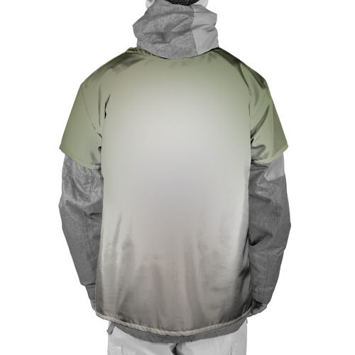 Накидка на куртку 3D  Фото 02, White Fox