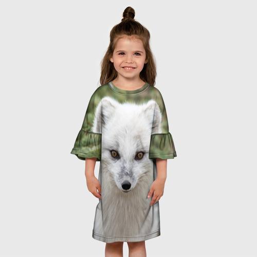 Детское платье 3D  Фото 01, White Fox