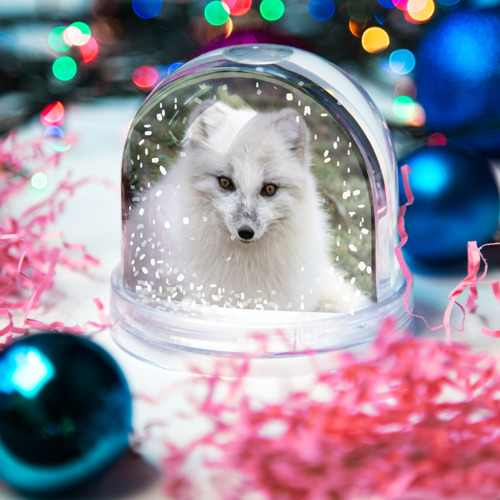 Водяной шар со снегом  Фото 03, White Fox