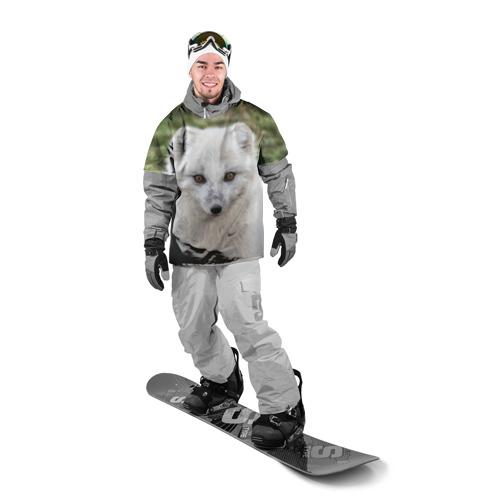 Накидка на куртку 3D  Фото 03, White Fox