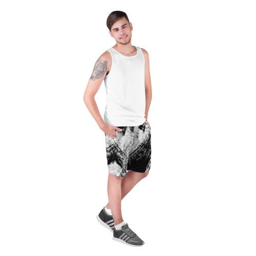 Мужские шорты 3D  Фото 03, Штриховка