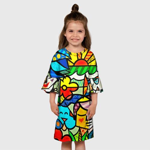 Детское платье 3D  Фото 01, Картинка-мозаика
