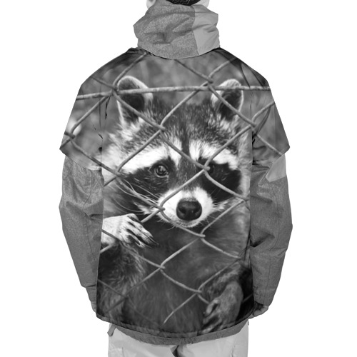 Накидка на куртку 3D  Фото 02, Енот за решеткой
