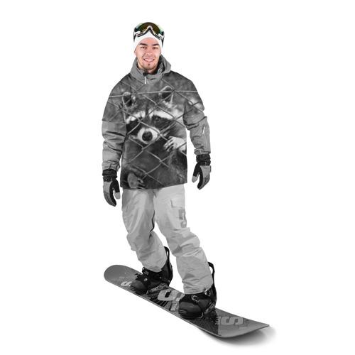 Накидка на куртку 3D  Фото 03, Енот за решеткой