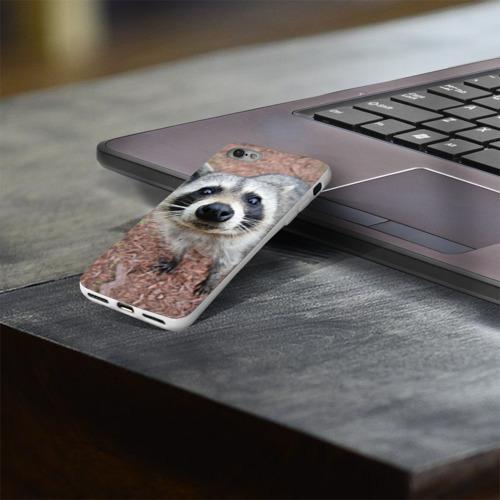 Чехол для Apple iPhone 8 силиконовый глянцевый  Фото 03, Носик енота