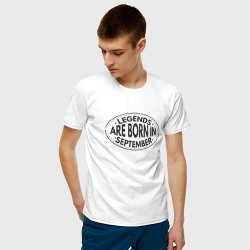 Мужская футболка хлопок Legends are born in September Фото 01