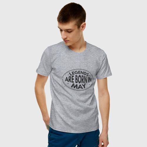 Мужская футболка хлопок Легенды рождаются в Мае Фото 01