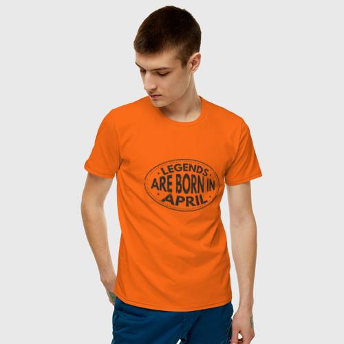 Мужская футболка хлопок Легенды рождаются в Апреле Фото 01