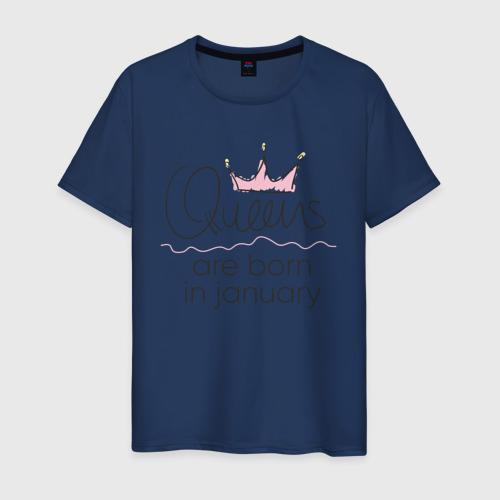 Мужская футболка хлопок Королевы рождаются в январе Фото 01