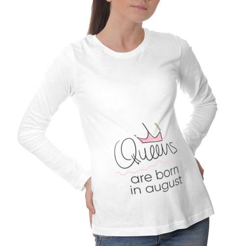 Лонгслив для беременных хлопок  Фото 01, Королевы рождаются в августе